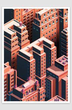 betype:     City Life - Isometric Cityscape... - Good typography
