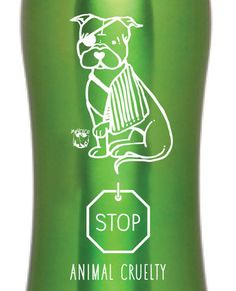 Stop Animal Cruelty Stainless Water Bottle | My Voice Clothing & Accessories