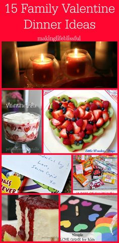Pebbles & Piggytails: 15 Family Valentine Dinner Ideas