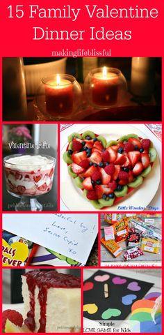 Pebbles & Piggytails: 15 Family Valentine Dinner Ideas