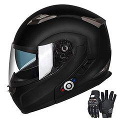 651e5275 Motorcycle Bluetooth Helmets,FreedConn Flip up Dual Visors Full Face Helmet ,Built-in