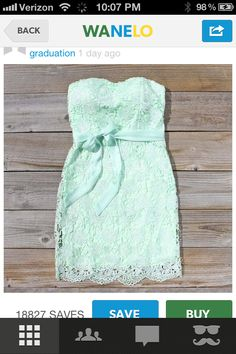Mint lace dress found on wanelo.  romantic and great for bridesmaids?
