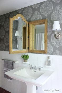 3 Dreamy DIY Powder Rooms You'll Wish Were Yours: Kris's Gorgeous Results