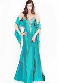 Elegant Natural Waist A line Sweetheart Silk Like Satin Brush Train Evening Gowns - Lunadress.co.uk