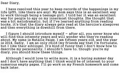 You may have heard Ryan talking about Natalie - after all, he IS smitten with her - but do you really KNOW her? Get an exclusive peek inside her diary as we explore her thought process and feelings - and maybe along the way we'll discover how she TRULY feels about Ryan. Read the first entry now!