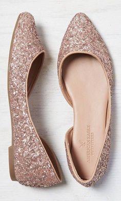 Sparkle glitter flat shoes //