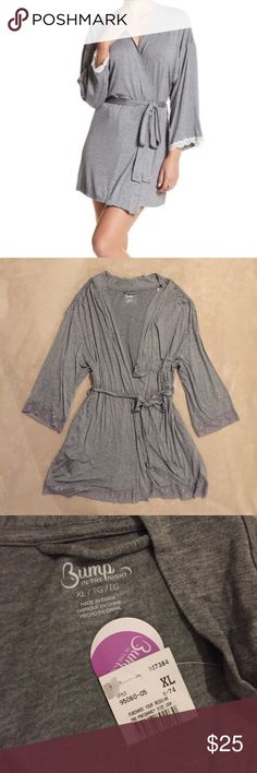 Bump in the night robe with lace trim New with tags maternity / nursing robe with lace trim Nordstrom Intimates & Sleepwear Robes