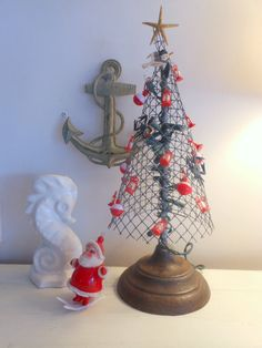 COASTAL CHRISTMAS  Crab Pot Christmas Tree Beach Christmas for by searchnrescue2, $68.00