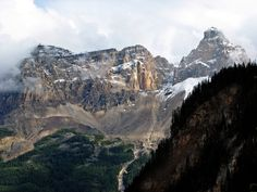 Mountains above Field, BC in Yoho National Park.