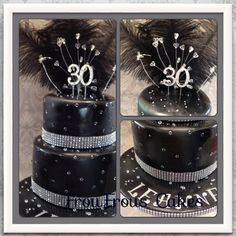 Diamonds are a girls best friend on her 30th birthday - by froufrous12 @ CakesDecor.com - cake decorating website