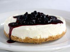 Cheesecake med blåbærsirup | Ostekage | foodfanatics opskrifter