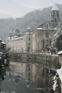 The town of Brantôme in the Périgord blanc, France