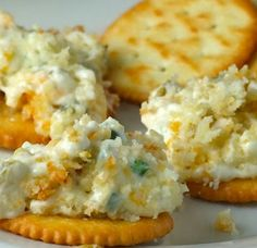 Ingredients  2 packages (8 ounces each) cream cheese, softened 1 cup mayonnaise ½ cup shredded Monterey Jack cheese ¼ cup canned chopped green chilie