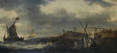 ANVERS  1614  -  1652  HOBOKEN MARINE  PRÈS  DU  RIVAGE  HOLLANDAIS BONAVENTURA  PEETERS