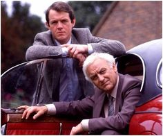 {Detectives with lovely cars} The older Morse with a delightful and youthful Robbie Lewis.