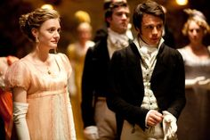 Still of Romola Garai and Rupert Evans in Emma