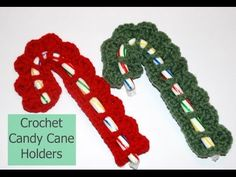 Amy's Crochet Creative Creations: Crochet Candy Cane Holder with Video