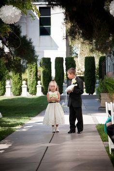 Flower Girl and Ring Bearer   photo by Rhee Bevere   http://brds.vu/vATIuP via @BridesView #wedding #photography