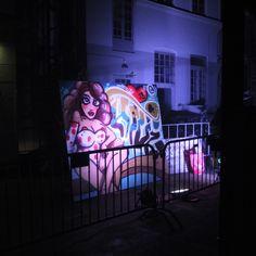 Canvas 250cm x 200cm for HIVE nightclub in Copenhagen By Jacob Bjørk