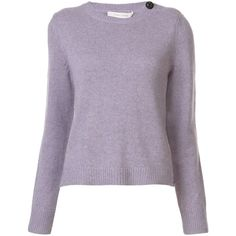 Marc Jacobs cabochon button jumper ($495) ❤ liked on Polyvore featuring tops, sweaters, marc jacobs sweater, cashmere jumpers, marc jacobs top, purple top and jumper top