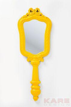 Spiegel Make Up Yellow 123x46cm  #sunshine #kare #design #moebel #gelb #sommer #wien #austria
