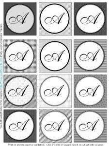 free monogram labels from a z great for bottle cap jewelry glass tile jewelry fridge