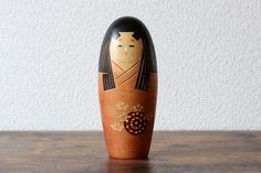 Items similar to Vintage Creative Kokeshi doll Japanese Kokeshi doll stamped on Etsy
