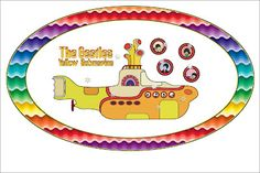 The Beatles Yellow Submarine – Kit Completo com molduras para convites, rótulos para guloseimas, lembrancinhas e imagens! | Fazendo a Nossa ...