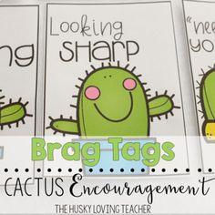 Cactus themed brag tags from The Husky Loving Teacher. Classroom Economy, Classroom Design, Future Classroom, Classroom Themes, Classroom Management, New Teachers, Your Teacher, Teacher Gifts, Teacher Stuff