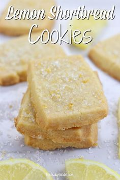 Lemon Shortbread Cookies are always a hit at parties and showers. I love how simple this recipe is and always make it. Lemon Shortbread Cookies are always a hit at parties and showers. I love how simple this recipe is and always make it. Buttery Shortbread Cookies, Shortbread Recipes, Easy Shortbread Cookie Recipe, Shortbread Biscuits, Lemon Cookie Recipe, Simple Biscuit Recipe, Lemon Biscuits, Lemon Desserts, Just Desserts