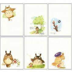 6 Postcard Set - Hayao Miyazaki's Drawing $15.00