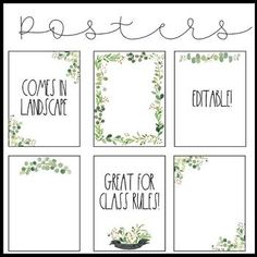 Modern Farmhouse Editable Posters is part of Modern Classroom decor - Enjoy 12 editable posters! The posters come in portrait and landscape They are perfect for creating your classroom rules! Check out Modern Farmhouse Classroom Decor Modern Classroom, Classroom Rules, Classroom Setting, Classroom Setup, Classroom Design, Future Classroom, Classroom Organization, School Jobs, School Plan
