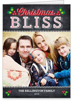 Capture your favorite holidays with these special embellishments | Christmas Bliss Christmas Card at Shutterfly.com