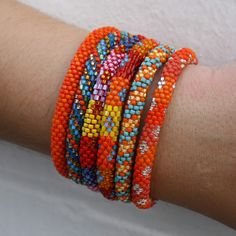 Lily and Laura Bracelets- Oranges