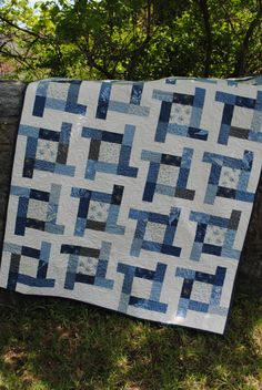 Patchwork Quilt Lap QUILT or Twin Coverlet pattern by sweetjane