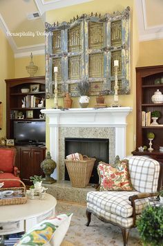 French Country Mantel Housepitality Designs  @ bHome.us