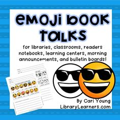 Emoji Book Talks to encourage students to share/recommend the books they're reading! $ (scheduled via http://www.tailwindapp.com?utm_source=pinterest&utm_medium=twpin&utm_content=post92486557&utm_campaign=scheduler_attribution)