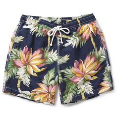 Hartford Hawaiian-Print Mid-Length Swim Shorts | MR PORTER