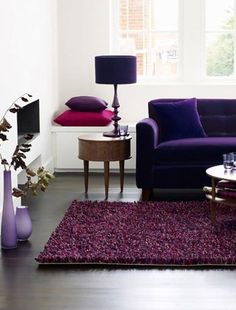 Living Room Furniture Purple purple living room. give your bedroom a romantic makeover. 11