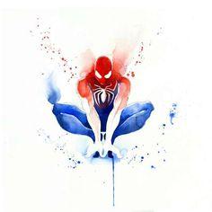 Spiderman - Blule, The Boutique Spiderman Tattoo, Marvel Tattoos, Spiderman Kunst, Spiderman Drawing, Marvel Comics, Arte Dc Comics, Marvel Art, Marvel Heroes, Draw Comics