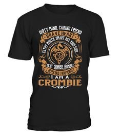 CROMBIE Brave Heart Last Name T-Shirt #Crombie