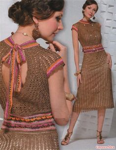* Vestido de malha arrastão. A partir da Internet. - Tudo em céu aberto ... (crochet) - Mom País