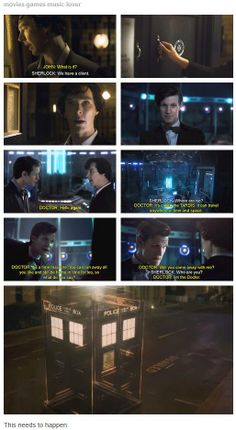 I've seen this video on YouTube and it is awesome. Moffat, if you're seeing this, PLEASE MAKE IT HAPPEN!!!