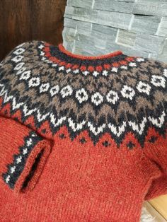 Nordic Sweater, Men Sweater, Bargello Quilts, Fair Isle Pattern, Cool Sweaters, Knitting Projects, Crafty, Wool, Crochet