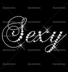 Sexy word with diamonds bling Playboy Logo, Talons Sexy, Black Silver, Black And White, Daddy, Single Words, All That Glitters, Black Is Beautiful, Thats Not My