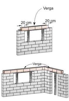 CONSTRUÇÃO CIVIL House Construction Plan, Civil Construction, Construction Tools, Concrete Block Walls, Cement Walls, Aluminum Patio Awnings, Cabin Design, House Design, Civil Engineering Design