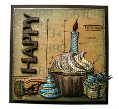 Tim Holtz Blueprint stamps make perfect masculine cards Card Making Inspiration, Making Ideas, Tim Holtz Stamps, Simon Says Stamp Blog, Card Tags, Gift Tags, Masculine Cards, Diy Cards, Scrapbook Cards