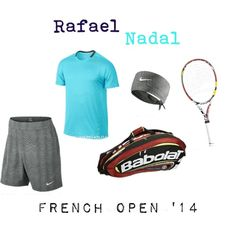 Rafael #Nadal French Open 2014 #tennis outfit. View more of Rafa's gear here:  http://bit.ly/1mcLNeg