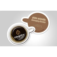 Own a #CoffeeShop? If u do, then u need to order these #Custom #DieCut #BusinessCards from @inkgility... Don't own a coffee shop? No problem! @inkgility will custom die cut your #BusinessCard to any shape you want, specific to your #Business industry. #MakeYourMark with @inkgility