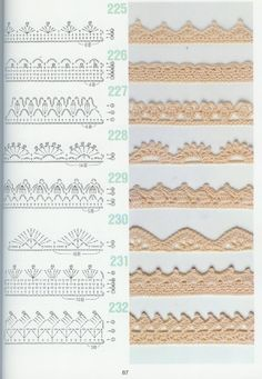 points de crochet a imprimer | schémas de points , bordures 2